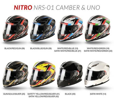Nitro NRS-01 Camber DVS Motorcycle Helmet